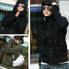 Trendy Women Turtleneck Sweats Zipper Hoodie Sweatshirt Coats Outwears Jackets