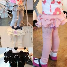 Kids Girls Skirts Culottes Cotton Tights Leggings Trousers Pants Toddler Clothes