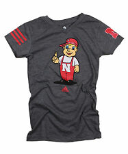 Adidas NCAA College Youth Girls Nebraska Cornhuskers T-Shirt - Dark Gray