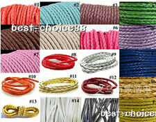 High Quality 5m Man-made Leather Braid Rope Hemp Cord For Necklace Bracelet HOT