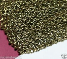 32ft spool of brass coated iron chain rollo chain 3.1mm available in 6 colors