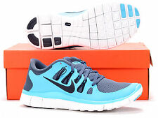 NIKE FREE RUN 5.0 PLUS TRAINERS blue FOOTLOCKER NEW sizes 6 to 11 uk