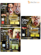 Halloween Zipper FX Zombie Vampire Make Up Kit Theatrical Blood Horror Wound