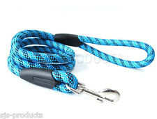 HEAVY DUTY DOG LEAD BRAND NEW PET STRONG/TOUGH NYLON ROPE LEASH 1M LONG CLIP