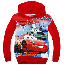 New Kids Boys Girls Cars Lightning McQueen Cartoon Hoodies Coat 2-8 Years