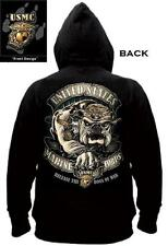 US Marine Corps BULLDOG Hoody USMC Release The Dogs of War Pull Over HOODIE S-2X