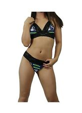 Sexy Seattle Seahawks NFL Lingerie Lace Cami Bralette Top,G-String CUSTOM Sizing