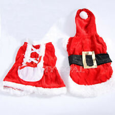 Pet Puppy Dog Winter Outwear Coat Apparel Hoodie Christmas Santa Claus Clothes