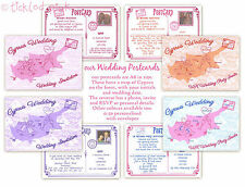 POSTCARD, BEACH HOLIDAY, OVERSEAS WEDDING, UK AFTER PARTY INVITATION SAMPLE
