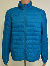 32 Degrees Weatherproof Packable Down Light Weight Jacket Mens - Aqua Blue