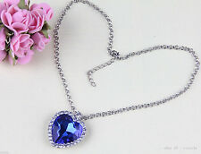 Fashion Eternal love the heart of the ocean ladies crystal charm necklacee