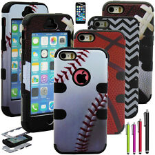 Shockproof Dust Dirt Proof Hard Matte Cover Case For iPhone 5 5S +Screen Film