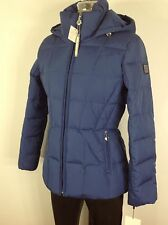 Calvin Klein NewWT Royal Blue Down Women's Jacket with Hood -Machine Washable