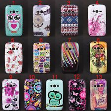 Owl Tribal Flowers Star Soft Skin Case Cover For Samsung Galaxy Ace NXT SM-G313H