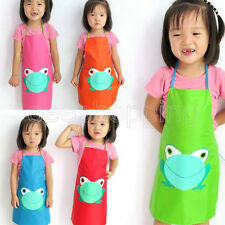 Free Kids Waterproof Hanger Loop Frog Play Apron Smock Overclothes For Painting