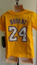 NWT NBA Adidas Los Angeles Lakers Kobe Bryant Todder Textured Tee: Sizes 2T - 4T