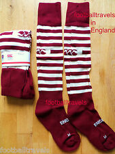 S M L XL ENGLAND AWAY RUGBY SOCKS by CANTERBURY of NZ BIKING RED 2014 Alternate