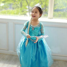 Toddler Girls Cake Tulle Tutu cute Ice blue party  Frozen Anna and Elsa Dresses