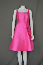 KATE SPADE Full Tea Bridesmaid Satin Sleeveless Dress Monaco Rio Pink 6 8 12