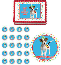 Party Puppy Beagle  Edible Birthday Party Cake Topper Cupcake Image Decoration