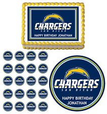 San Diego Chargers  Edible Birthday Party Cake Topper Cupcake Image Decoration