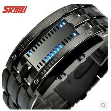 HOT SALES Creative Date Digital Light LED titanium band Men's Bangle Wrist Watch