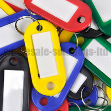 Key Fobs Assorted Key Rings Coloured Plastic Id Tags  Name Id Card Tags Label