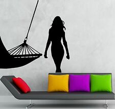 Wall Stickers Vinyl Decal Hot Sexy Girl Hammock Relax Vacation Travel (ig1864)
