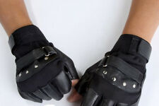 Specialized Mens Style Sheep Leather Driving Motorcycle Fingerless Gloves JCAU