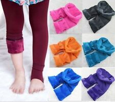 Baby Toddlers Girls Fleece Lined Leggings Kids Winter Thick Warm Pants Trousers