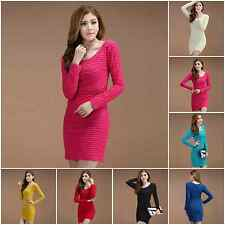 Maternity Pregnant Bottoming Dress Sexy Womens Slim Tight Solid Color Mini Dress