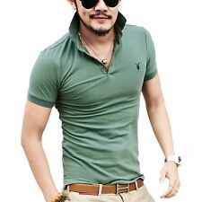 Free Shipping Men's Pretty Slim Fit Polo Shirts 9 Color Green Boyfriend Gifts