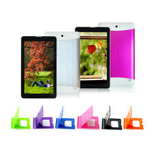 "7"" Android 4.2 Dual Core Cameras 3G WCDMA GPS Tablet PC Dual Sim Slots w/ Holder"