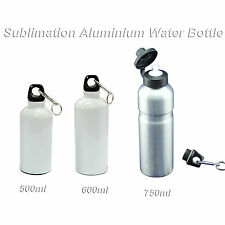 3pcs Sublimation Aluminium Water Bottle by Mug Press Travel Mugs Gifts