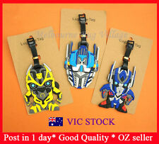 New Transformers Autobot Optimus Prime Helmet Bumblebee Luggage Name Tag