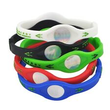 5 Color Power Energy Health Bracelet Band Silicone Wristband Balance Sport S M L