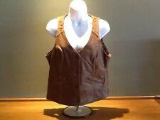 Genuine Indian Womens Indian Motorcycle Vintage Brown Leather Vest