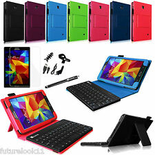 "For Samsung Galaxy Tab 4 7.0 7"" NOOK Bluetooth Keyboard with Leather Case Cover"