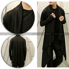 Vintage Men's Gloves Black Korean Stylish Long Sleeve Cardigan Tops Casual Coat