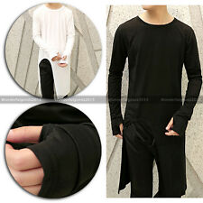 New Men Fashion Stylish Avant-Garde Asymmetric Unbalance Gloves Chic Tee Shirts