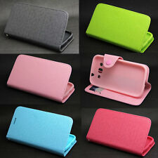 Button Wallet Leather Flip + Tpu Case Cover For Samsung Galaxy Win Duos i8552