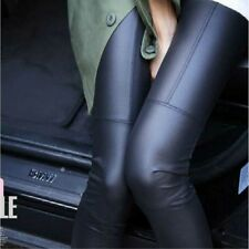 Women Faux Leather Skinny Stretch High Waisted Tight Pants Leggings Sexy hots