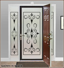 Elegant Fancy Adhesive-Free Etched/Stained Glass Window Film Cling 20s Style