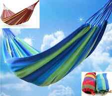 New Portable Canvas Fabric Garden Hammock Outdoor Camping Travel Beach Swing Bed