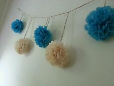 wedding party baby shower wall garland decorations tissue paper pom poms