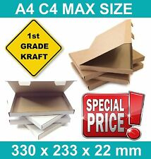 A4 C4 Size QUALITY Kraft Postal Royal Mail LARGE LETTER PIP BOXES (MULTILISTING)