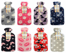 Country Club Mixed Design of Fleece Covered Hot Water Bottles - HWB128073