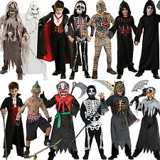 Boys Halloween Outfit Mask Scary Fancy Dress Costume Movie Kids Ghoul Child New