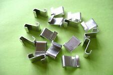 FREE POST**** GREENHOUSE GLAZING POLISHED ALUMINUM Z CLIPS CHOOSE FROM 20 TO 500
