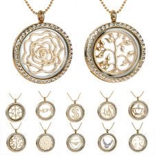 Fashion Gold Floating Charms Living Memory 1PC Sheet iron and Lockets Glass Gift